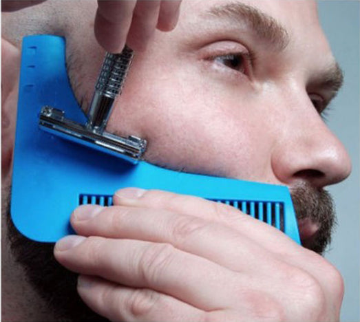 Peine plantilla guía molde para una barba perfecta The Beard Shaper