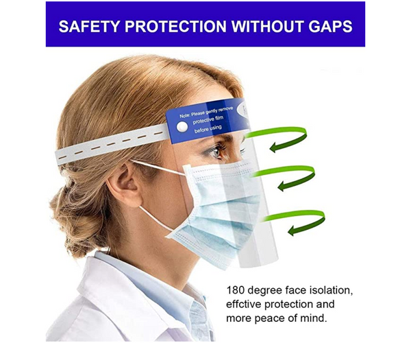 2 Pack Escudo Careta Protección Facial aprobada por la FDA USA Face Shield