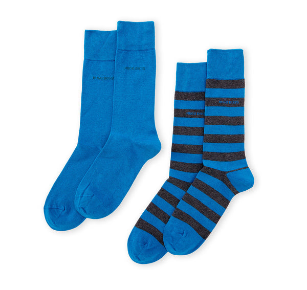 Hugo Boss 2 Pack Calcetines Vestir Hombre Color Azul 2 Pares