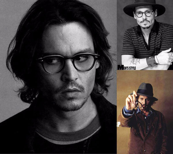 Lentes Anti-Blue Light Stress Fatiga tipo Lemtosh Johnny Depp Armazón Carey Mica Policabonato transparente
