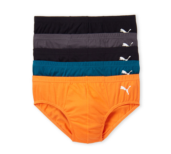 Puma 5 Pack Low Rise Premium Cotton Briefs Calzoncillos de Algodón Tag Free
