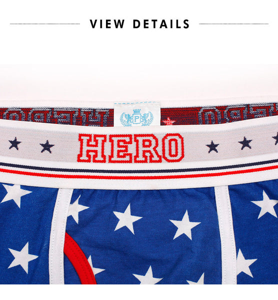 Boxer Brief Pink Hero Stars Estrellas color Azul Indigo PNKH-STRS-BLU
