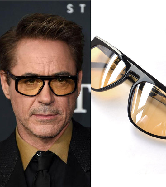 Lentes Robert Downey Jr Iron Man Avengers End Game Acetato Italiano Hand Made