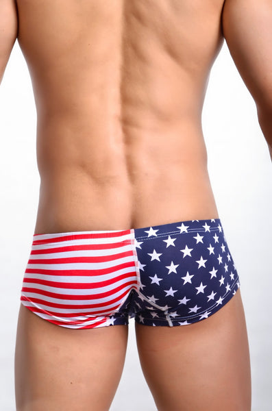 Sexy Bóxer Trunks de Barras y Estrellas Ricardo Milos USA Estados Unidos Star Stripes para Hombre VGT-USA-BXR