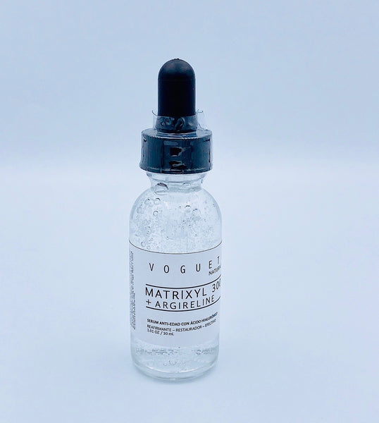VOGUETI Naturals Matryxil 3000 Argireline Hyaluronic Acid Potente Alternativa Botox 100% Natural Anti-arrugas Antiedad 30ML