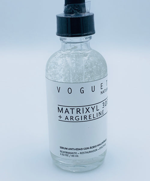 VOGUETI Naturals Matryxil 3000 Argireline Hyaluronic Acid Potente Alternativa al Botox Suero 100% Natural Anti-arrugas Anti-edad 60ml