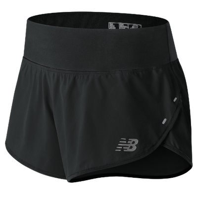 "NEW BALANCE W 3"" IMPACT SHORT, BK"
