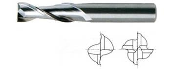 *02593 YG 1/2 x 1/2 x 2 x 4 - 2 FLUTE LONG LENGTH CARBIDE,