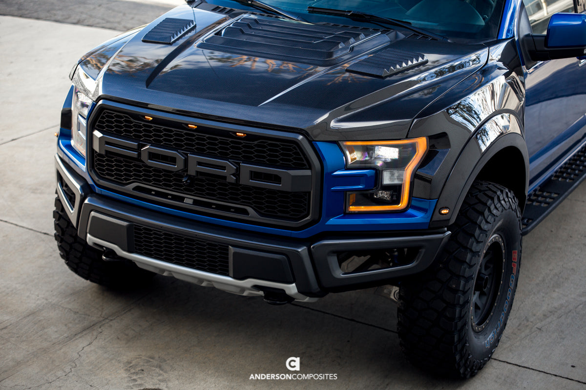New Ford F150 >> 2017-2018 FORD RAPTOR TYPE-OE CARBON FIBER HOOD | Anderson Composites