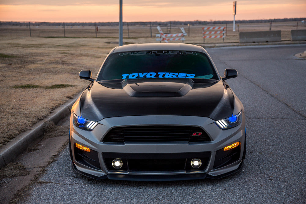 2015 2017 mustang double sided carbon fiber gt350 style hood mustang gt 350 style carbon fiber hood altavistaventures Gallery
