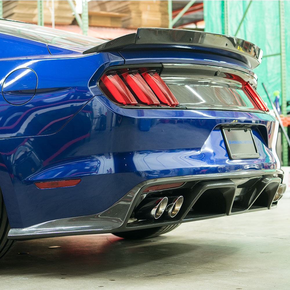 2015 2017 mustang gt350 style carbon fiber rear diffuser rh andersoncomposites com 2015 ford mustang gt rear diffuser 2007 ford mustang rear diffuser