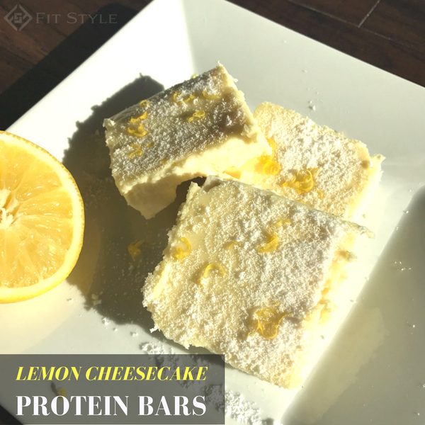 Lemon Cheesecake Protein Bars