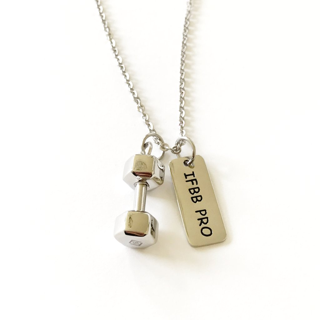 f21dadb5fa7cf IFBB Pro Necklace (add a dumbbell) - Fit Style