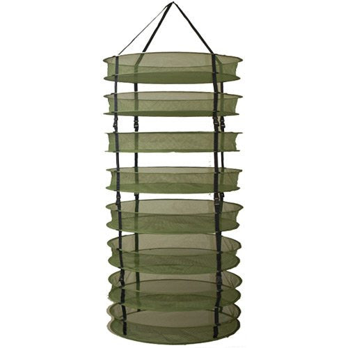 GRO1 2-Ft Plant Crop Harvest Drying Fabric Tiered Dry Rack Nets (Clips) - Hydro4Less