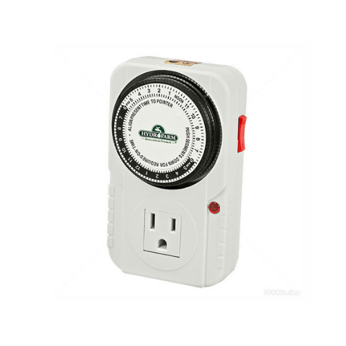 Single Outlet 24 Hour Programmable Grounded Timer - TheHydroPlug