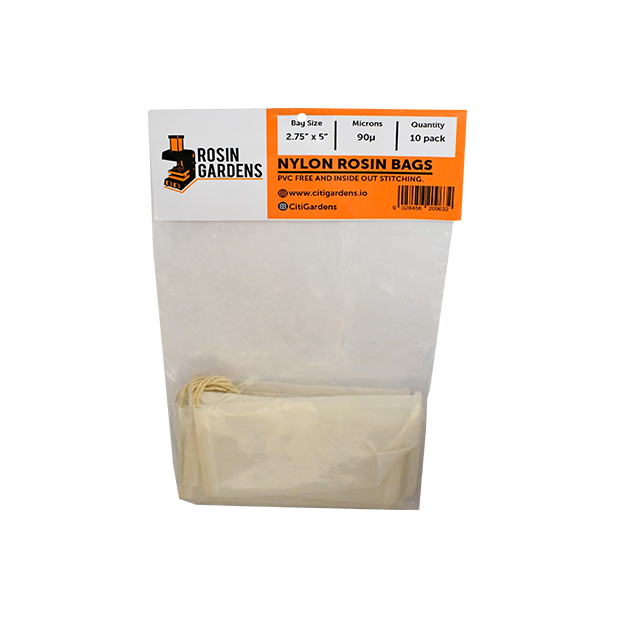 "90 Micron Nylon Rosin Bags (10 pk) Screen Heat Press 2.75"" x 5"" - Hydro4Less"