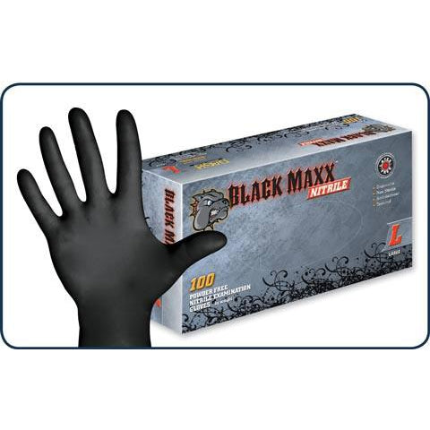 Black Maxx Nitrile Gloves - 100 pack - TheHydroPlug