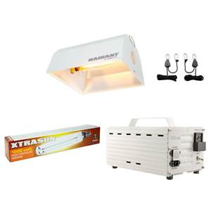 Light System Bundle Kit HPS Bulb Radiant Hood 1000w Ballast 120/240v w/ Ratchets - TheHydroPlug
