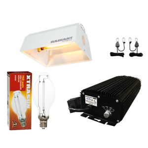 Light System Bundle Kit HPS Bulb 750w Digital Ballast 240v Radiant Reflector - TheHydroPlug