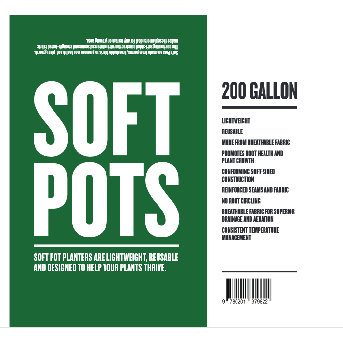 Soft Pot 200 Gallon - Hydro4Less