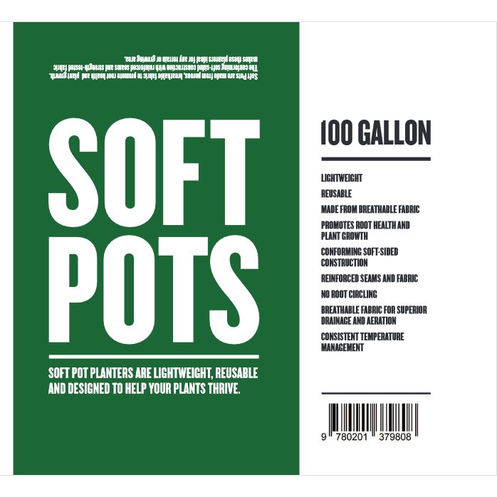 Soft Pot 100 Gallon - Hydro4Less