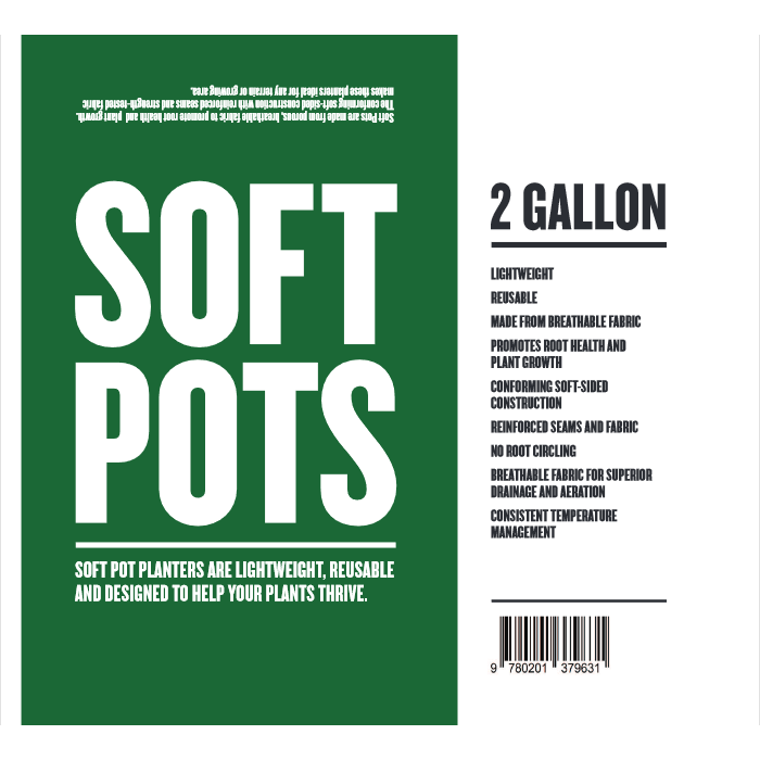Soft Pot 2 Gallon - Hydro4Less