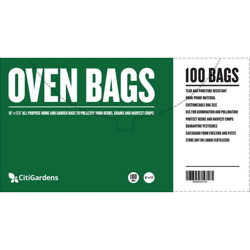 Citigardens Oven Bags 100pk - FREE SHIPPING - Hydro4Less