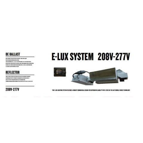 E-Lux System 1000w 208-277v Double-Ended Kit Horizontal Ballast - Hydro4Less