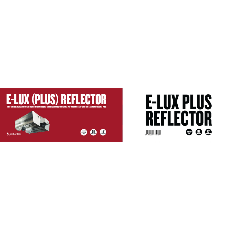 E-Lux Plus Double Ended Reflector (Open Wing Style Reflector) - Hydro4Less
