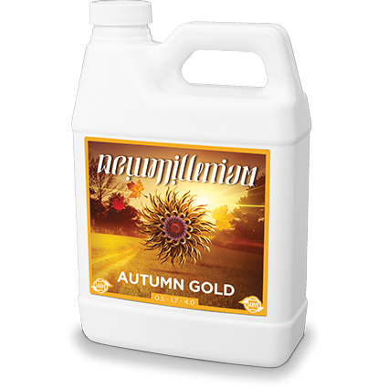 New Millenium Autumn Gold 2.5 Gallon Bloom Flower Nutrient Hydroponic Booster - TheHydroPlug
