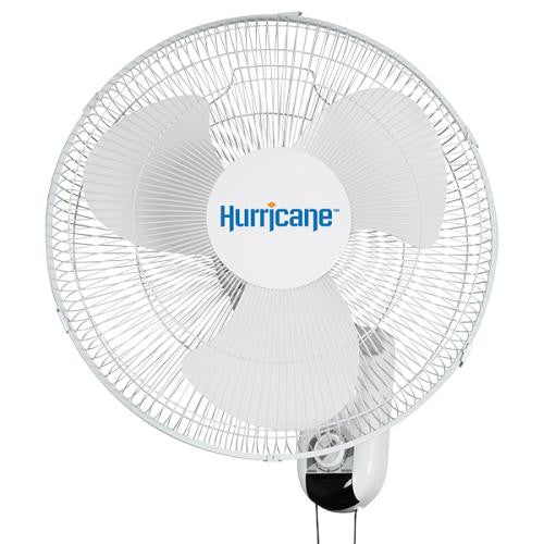Hurricane Classic 16-Inch Wall Mount Oscillating Fan - TheHydroPlug