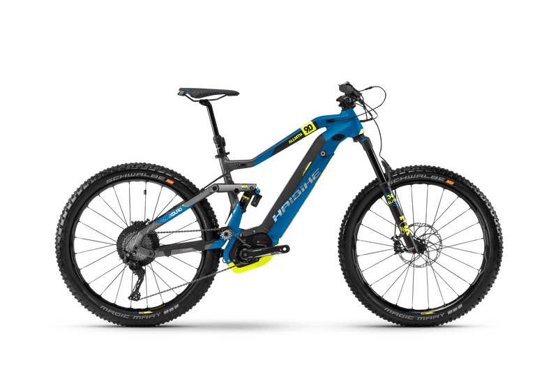 NEW Haibike XDURO AllMtn 9.5 Electric Bike eMTB e Mountain Bike Full Suspension Soft tail
