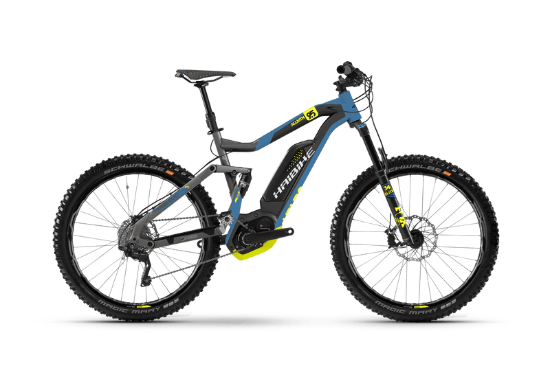 NEW 2018 Haibike XDURO AllMtn 7.5 Electric Bike eMTB e Mountain Bike Full Suspension Soft tail