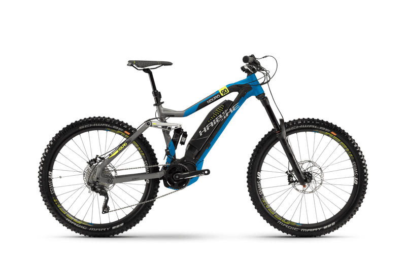 Haibike XDURO NDURO 9.0 Electric Bike eMTB e Mountain Bike Full Suspension Soft tail