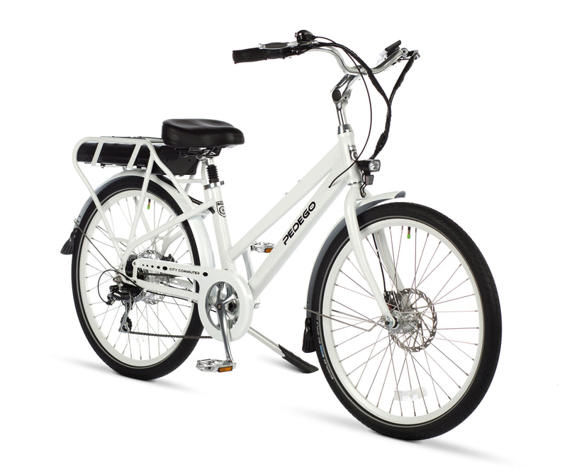 Pedego Electric Bike City Commuter step thru white frame ebike