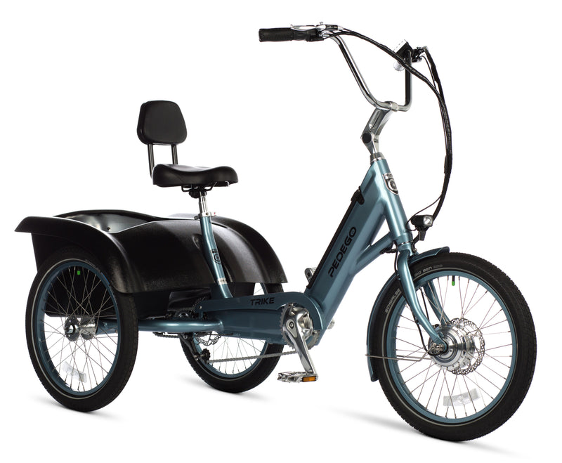 Pedego Trike electric Tricycle mineral blue frame EBike