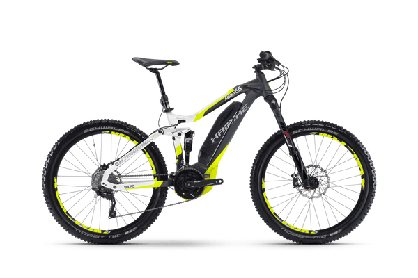2017 Haibike SDURO AllMtn 6.5 Electric Bike eMTB e Mountain Bike Full Suspension Soft tail