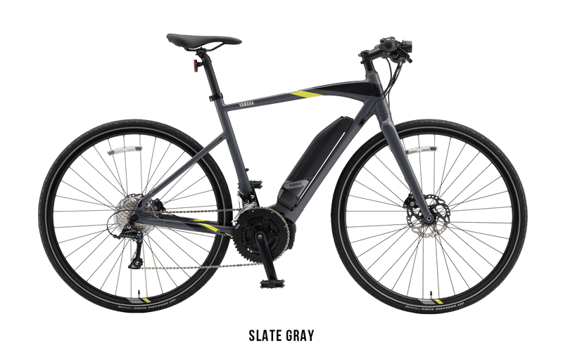 Yamaha Cross Core Yamaha Power Assist Bicycles ebike Electric Bike Slate Gray (L)