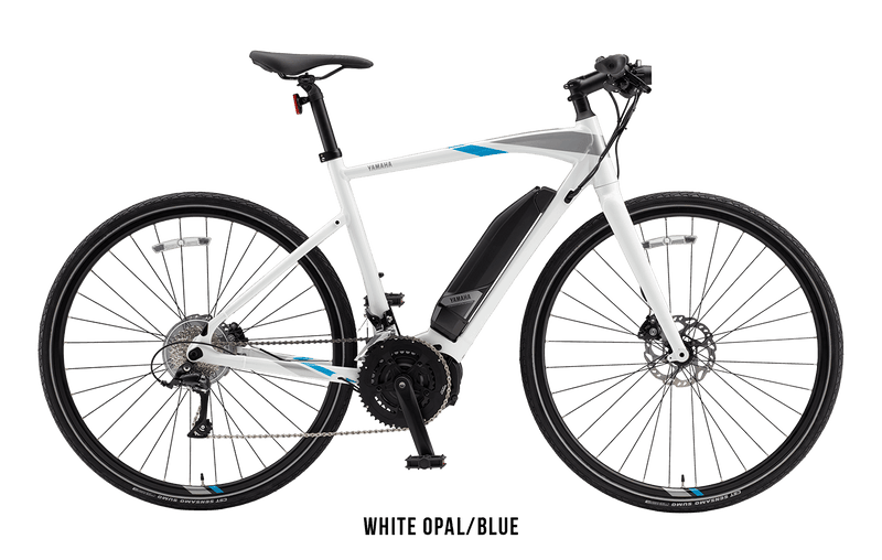 Yamaha Cross Core Yamaha Power Assist Bicycles ebike Electric Bike White Opal / Blue (S)