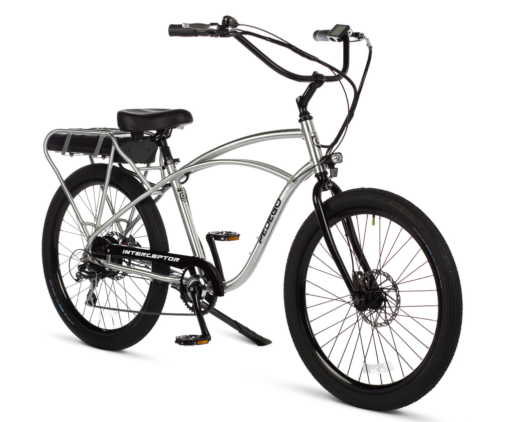 Pedego Electric Bike Classic Interceptor silver frame ebike