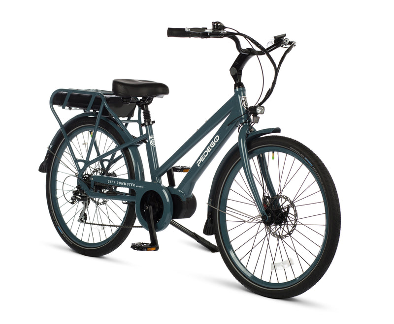 Pedego Electric Bike City Commuter Mid drive anvil blue frame ebike