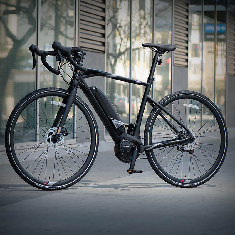 Yamaha UrbanRush Yamaha Power Assist Bicycles ebike Electric Bike Onyx Black (M)