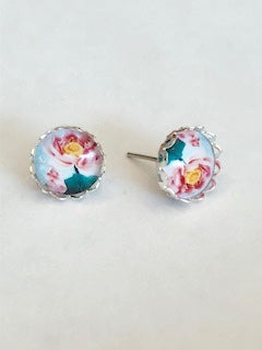 Abstract Floral Earrings