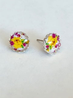 Abstract Floral Earring