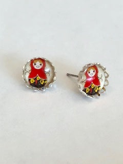 Happy Matryoshka Doll Earrings