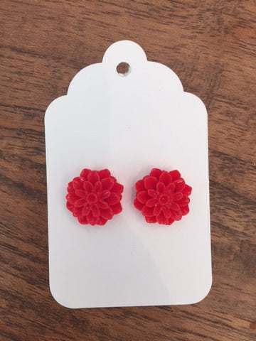 Mum Earring - Ashley Red
