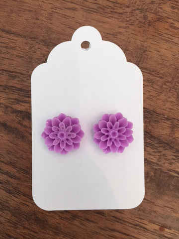 Mum Earring - Carla Purple
