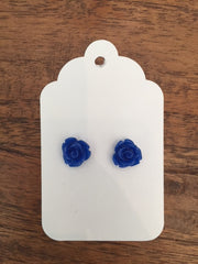 Mini Rose Earring - Ann Blue