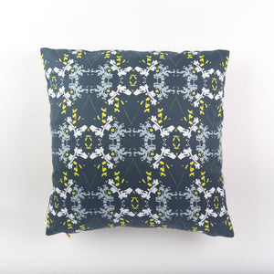 Blackish Magic (Midnight/Chartreuse) Fabric