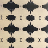 10216 Navy White Grasscloth Wallcovering
